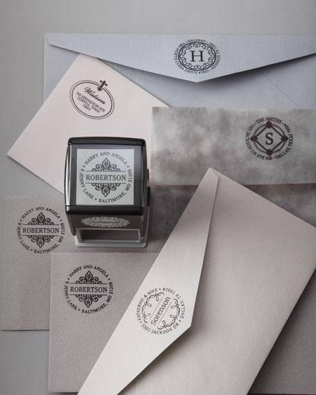 Three Designing Women Fleur de Lis Address Stamp