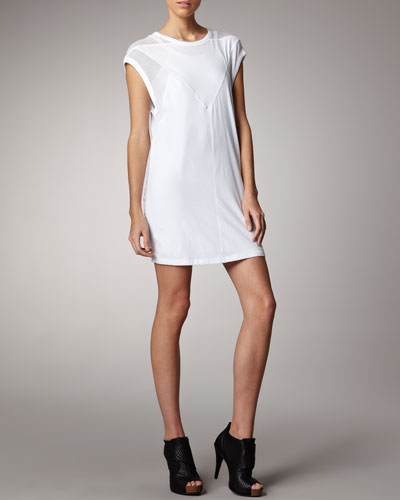 T by Alexander Wang Mesh-Detailed Dress & Formfitting Tank Dress