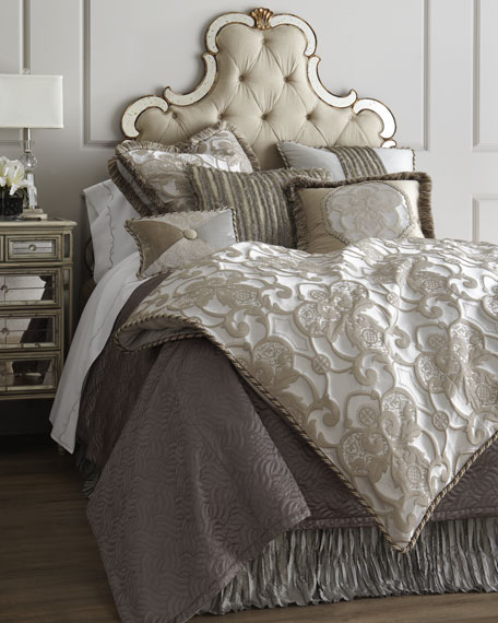 Dian Austin Couture Home King Pure Pewter Medallion Duvet Cover