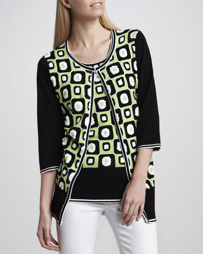 Boxed In Sequined Cardigan & Shell