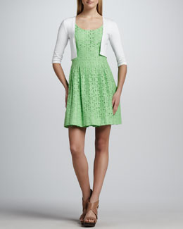 Lilly Pulitzer Danielle Half-Sleeve Cardigan & Posey Daisy Lane Lace Dress