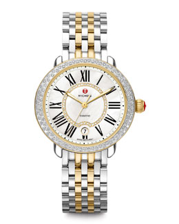 MICHELE Serein Two-Tone Diamond Watch Head & 16mm Bracelet Strap
