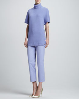 St. John Collection Short-Sleeve Sweater & Audrey Side-Zip Capri Pants