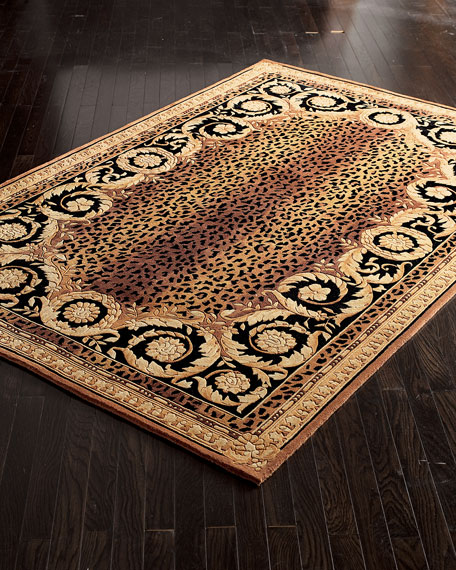 Roman Leopard Rug, 6' x 9'