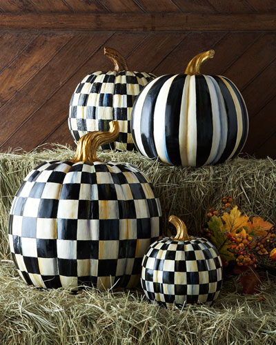 Courtly Check & Courtly Stripe Pumpkins