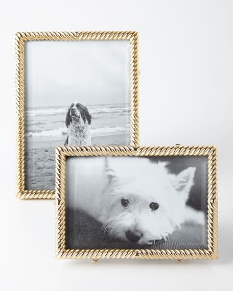 "L'Objet Gold Deco Twist 5"" x 7"" Picture Frame"