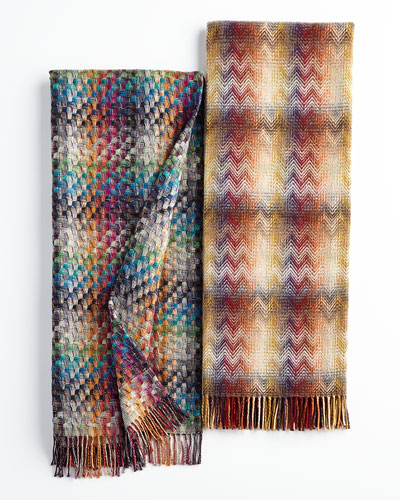 Husky Plaid Throw & Montgomery Zigzag Throw