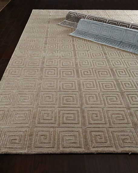 Diona Greek Key Rug, 9' x 12'