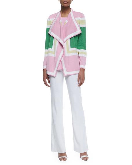 Colorblock Draped Cardigan, Petite