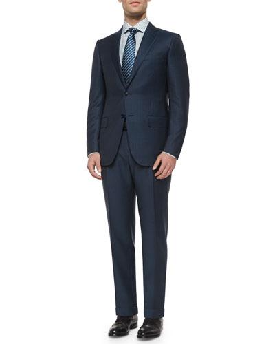 Ermenegildo Zegna Trofeo Wool Striped Suit & Box