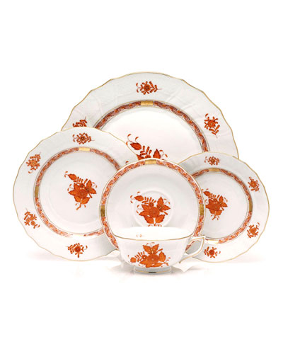 Rust Chinese Bouquet Dinnerware