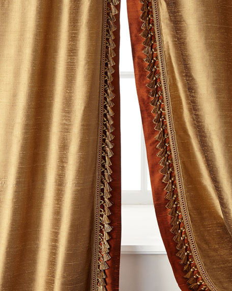 "Two 52""W x 108""L Villa Di Como Curtains"