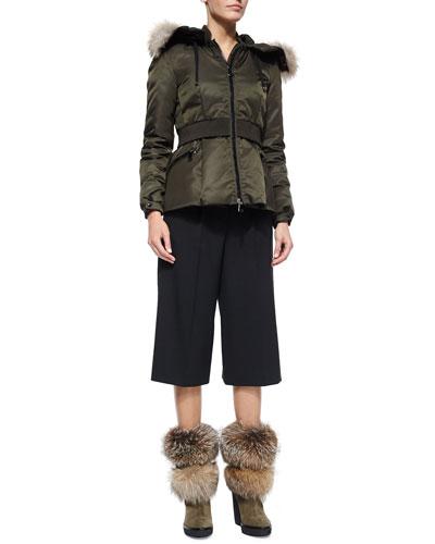 Saumur Cinched Waist Coat & Gaucho Pants