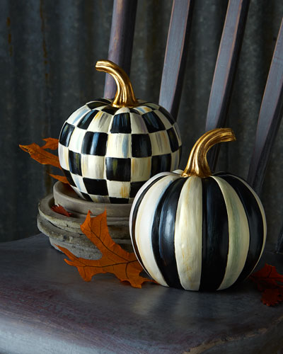Courtly Check & Courtly Stripe Mini Pumpkins
