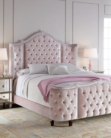 Haute House Pippa Tufted Queen Bed