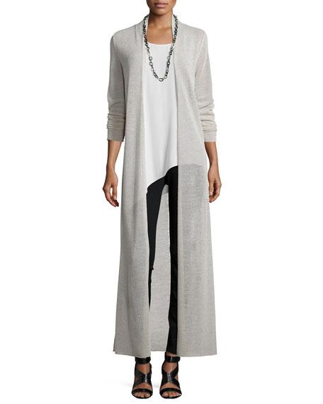 Eileen Fisher Washable Merino Wool Maxi Cardigan, Plus