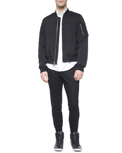 Designer Men's Clothing Websites Manston Nylon Bomber Jacket