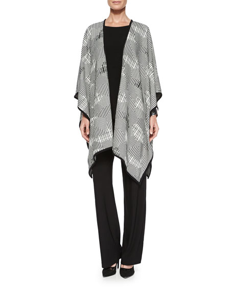 Caroline Rose Pattern Play Jacquard Wrap