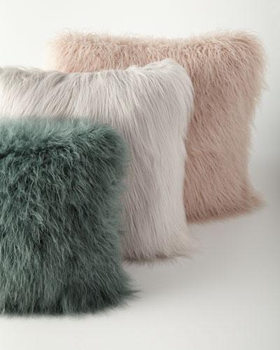 Khan Faux-Fur Pillows