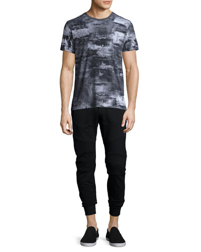 Boyton Printed Short-Sleeve Tee & Ashdown Tapered Moto Sweatpants