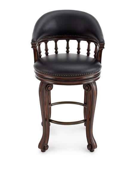 Alexander Swivel Leather Barstool
