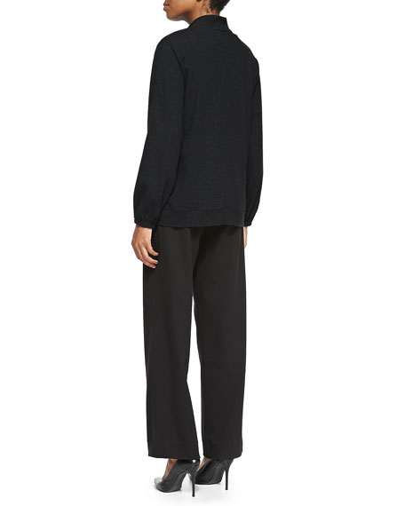 Mock-Neck Zip-Front Jacket, Petite
