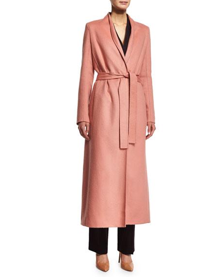 THE ROW Belton Long-Lean Coat, Cinder Rose