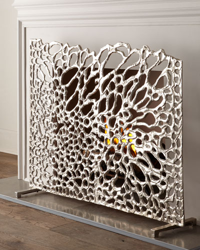 Organic Fireplace Screen