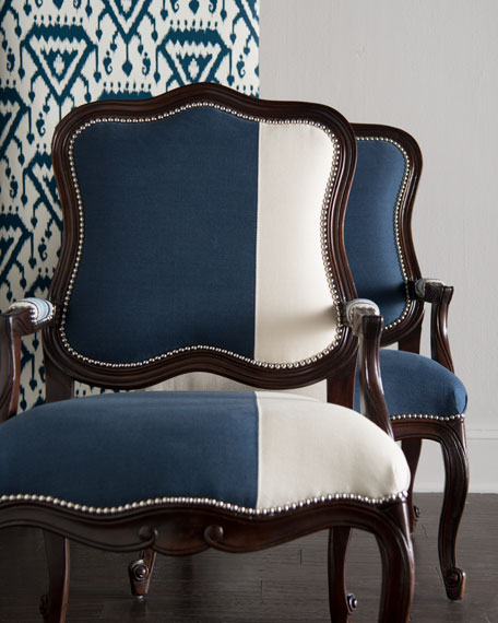 Michael & Madison Colorblock Bergere Chair Set