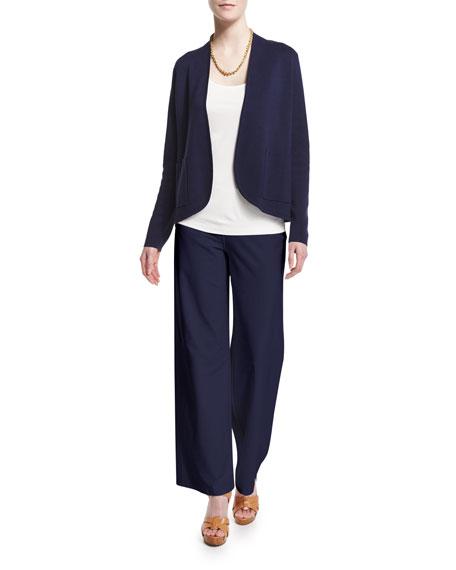 Eileen Fisher Silk Organic Cotton Interlock Jacket, Petite