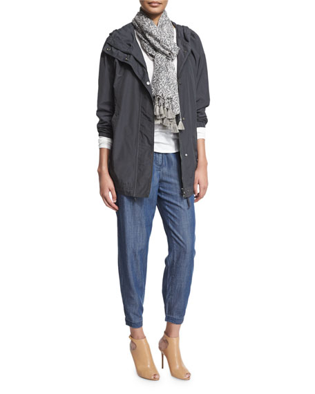 Eileen Fisher Hooded Weather-Resistant Jacket