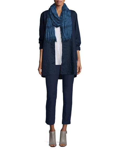 Eileen Fisher Organic Linen Long Shirt, Midnight