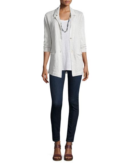 Eileen Fisher Organic Cotton-Blend Two-Button Jacket