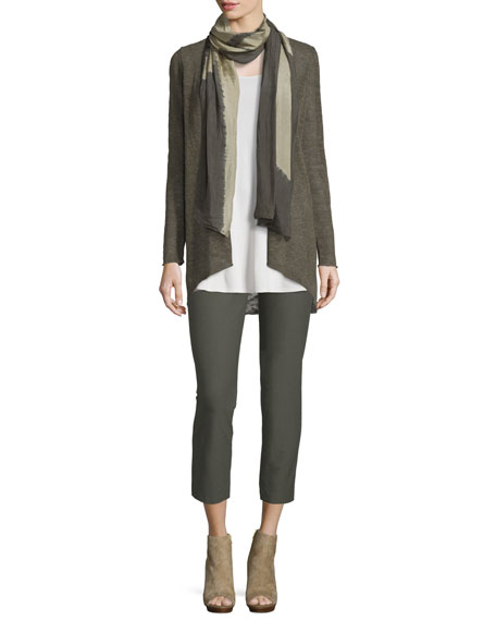 Eileen Fisher Washable Stretch-Crepe Ankle Pants, Oregano