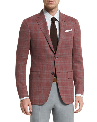 Plaid Two-Button Jacket & High Performance Trofeo® Wool Trousers