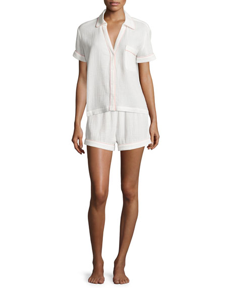Skin Anita Gauze Shirt, Crane White