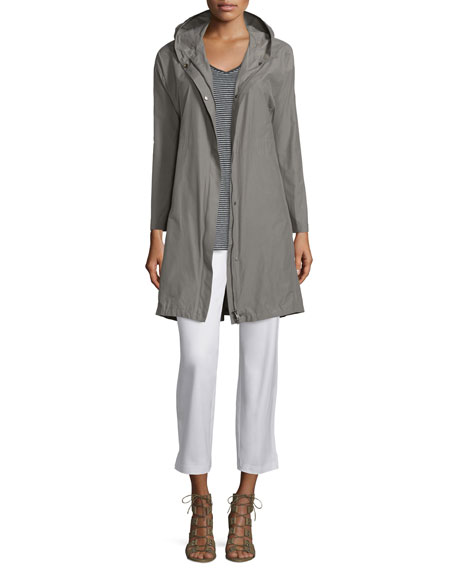 Eileen Fisher Hooded Weather-Resistant Long Jacket