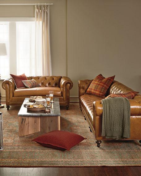 "Davidson 94"" Three-Cushion Chesterfield Sofa"