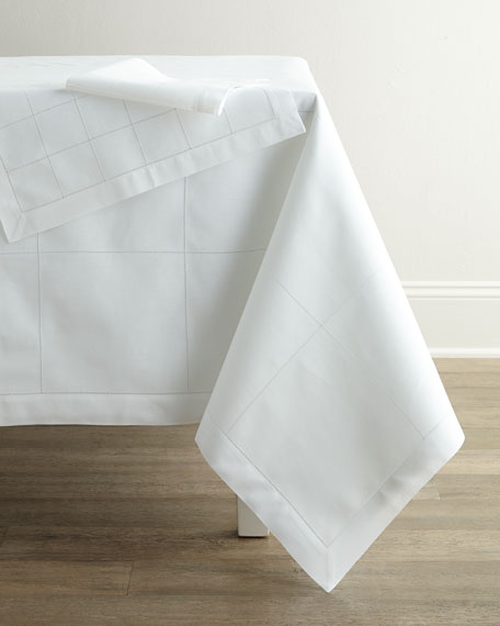 Block Hemstitch Cocktail Napkins, Set of 6