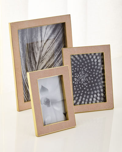 Blush Classic Shagreen Frames