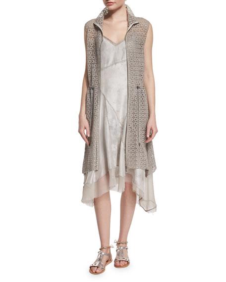 Elie Tahari Molly Long Lace Vest