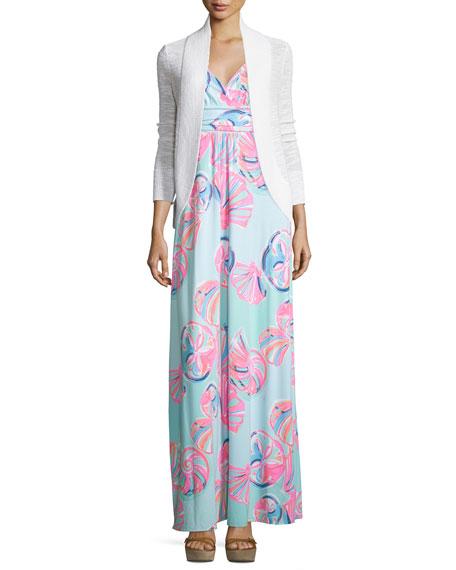 Lilly PulitzerAmalie Long-Sleeve Open Cardigan, White