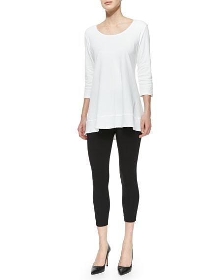 Joan Vass Interlock-Knit High-Low Tunic