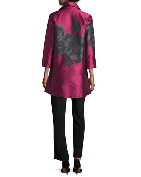Rio Rose Open-Front Party Jacket, Deep Pink/Black, Plus Size