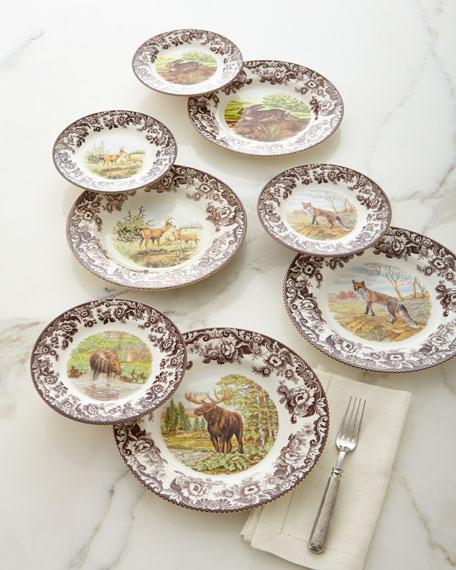 Woodland Deer Dinner Plates, Set of 4