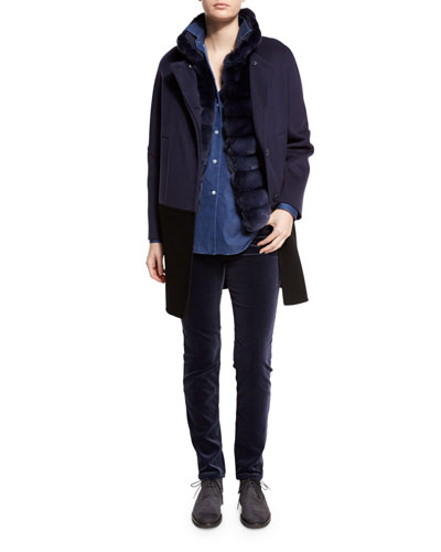 Blouse, Jeans, Coat & Vest