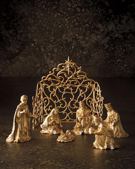 Gilded Nativity Sheep Figurine