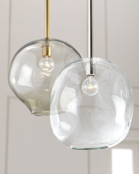 Regina Andrew Design Molten Large 1-Light Smoke Pendant