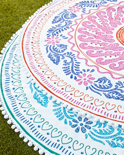Round Cita Beach Towels