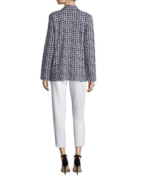 Joan Vass Geometric Jacquard Interlock Jacket